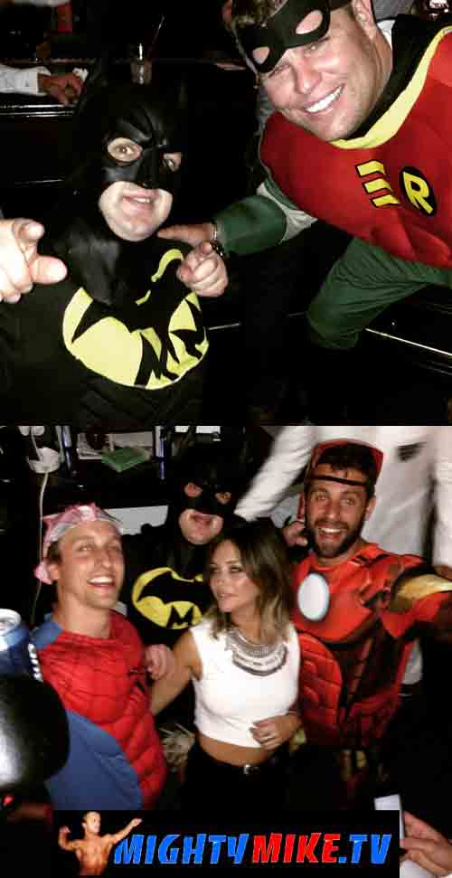Hire little people Dwarf Batman Robin Bachelor party Stag Las Vegas.