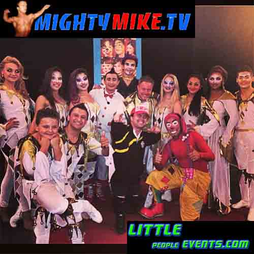 Mighty Mike Enjoyed see Amazing Circus Vargas in Temecula,Ca. midget talent performer show audience talent Circus Vargas acts family Dwarf entrainment.
